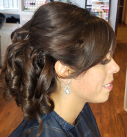 Updo using Kenra Whip Grip Mousse 9, Kenra Air Grip Spray 5, and Kenra High Grip Spray 20