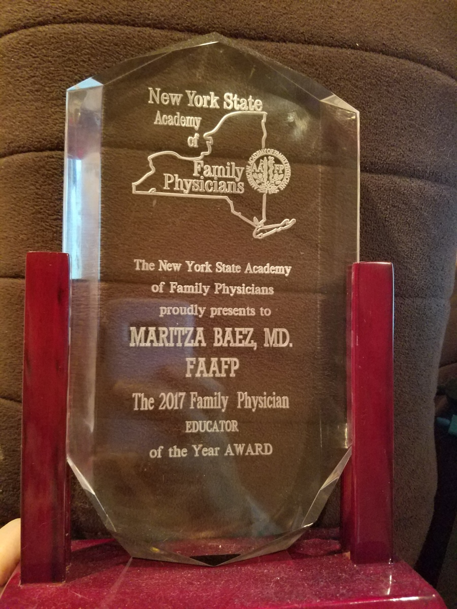I am 2017 Family Physician of the Year!